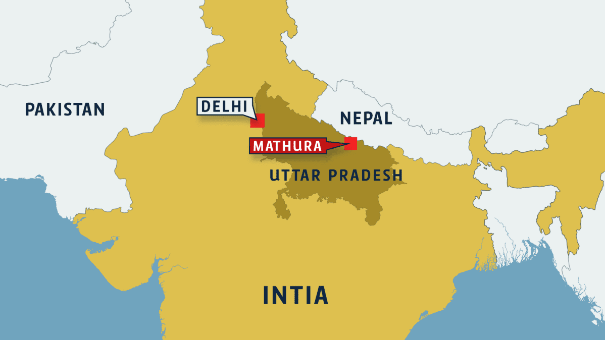 Intian kartta.
