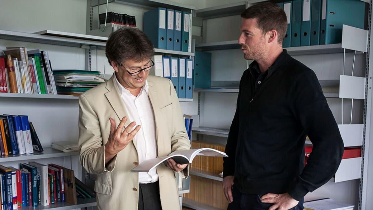 Reiner Eichenberger ja Mark Schelker.