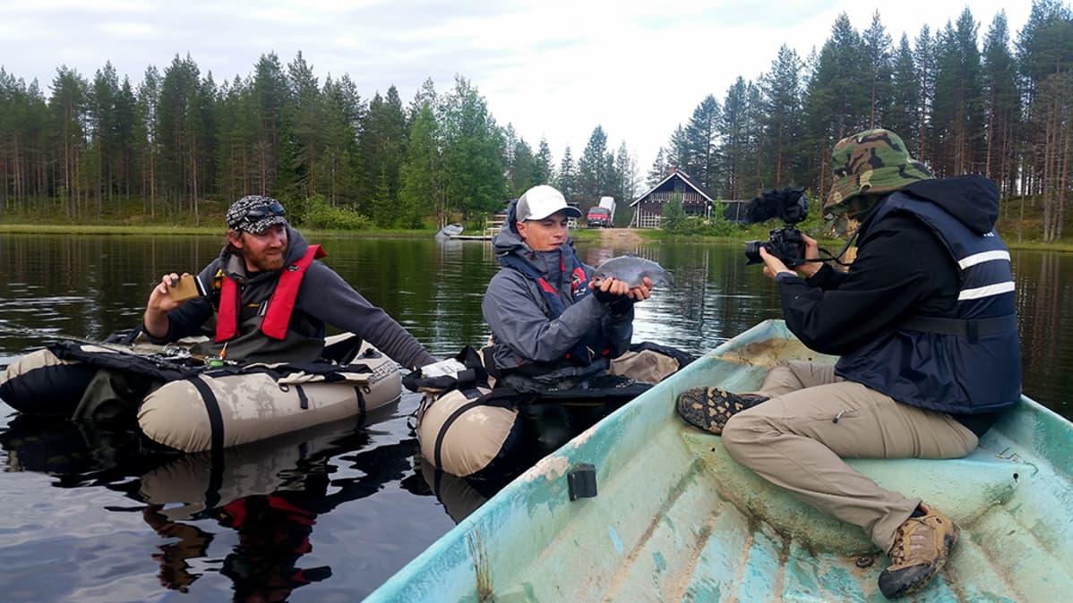 Kalastus vlogin kuvaukset