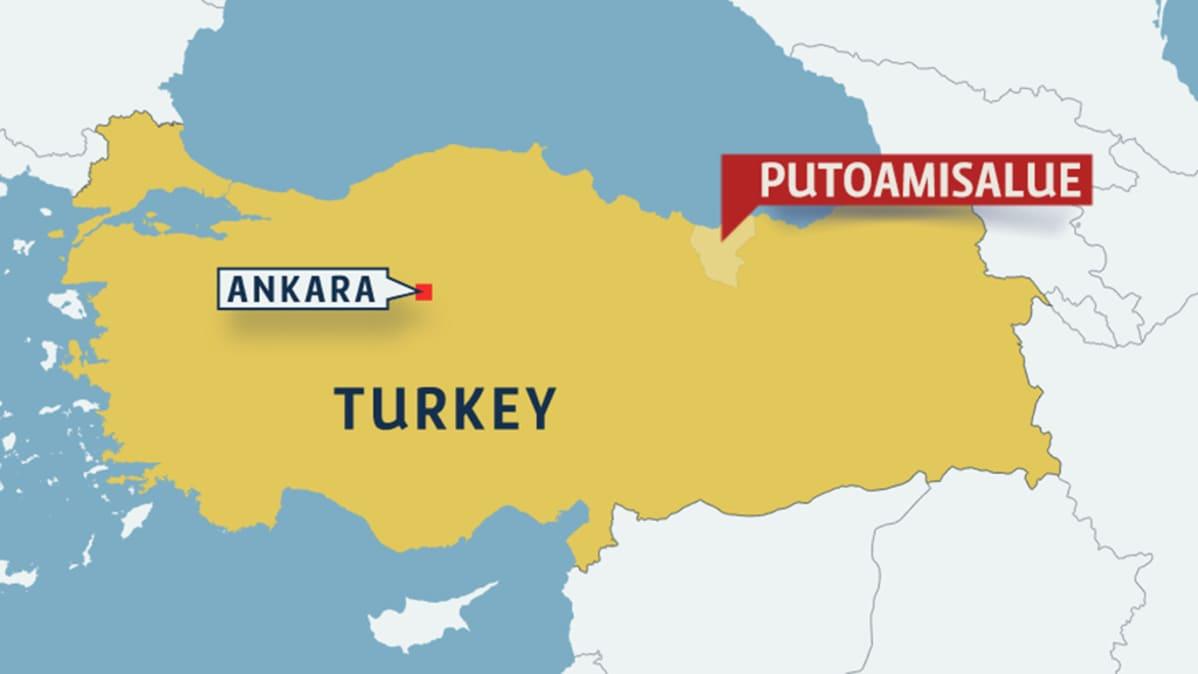 Turkin Helikopteriturmassa Kuoli Armeijan Korkea Arvoisia