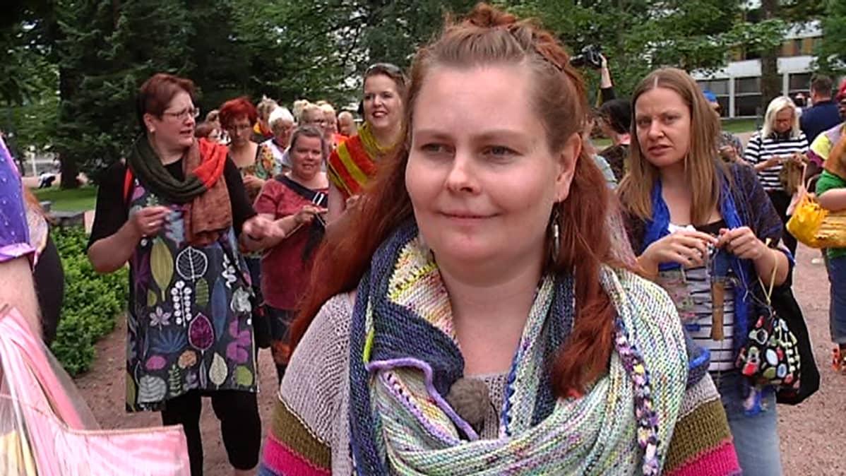 Lankakauppa Titityyn yrittäjä, festivaalin järjestäjä Tiina Huhtaniemi.