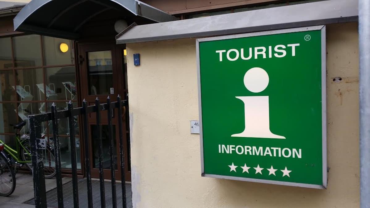 Turun matkailutoimiston sisäänkäynti
