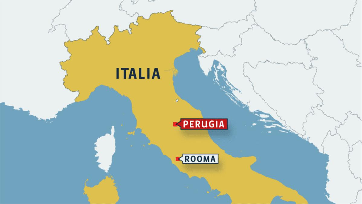 italian kartta jossa perugia