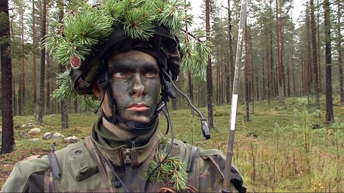 Reservin vänrikki Ville Savolainen.