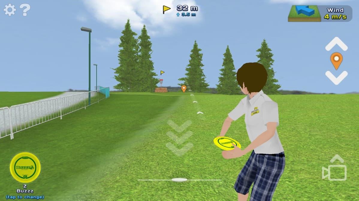 Frisbeegolf peli