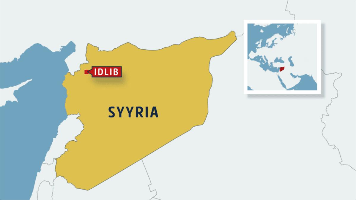 Syyrian kartta jossa Idlib