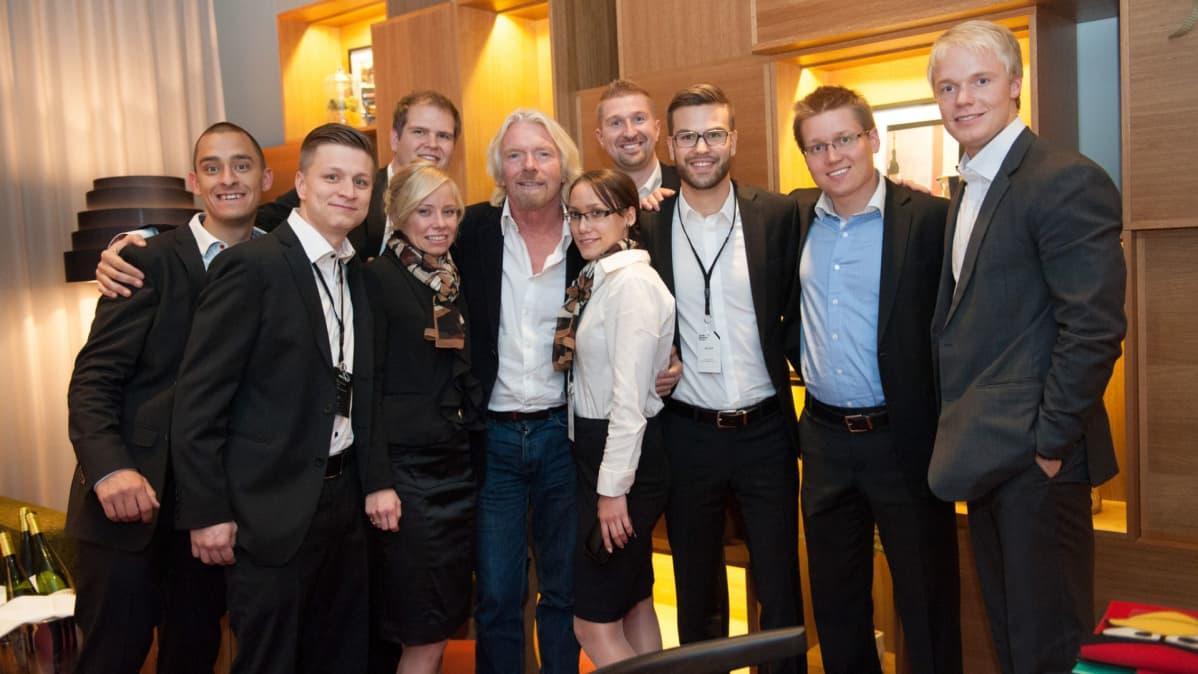 Virgin-brändistään tunnettu Sir Richard Charles Nicholas Branson vieraili NBF:ssä 2012.