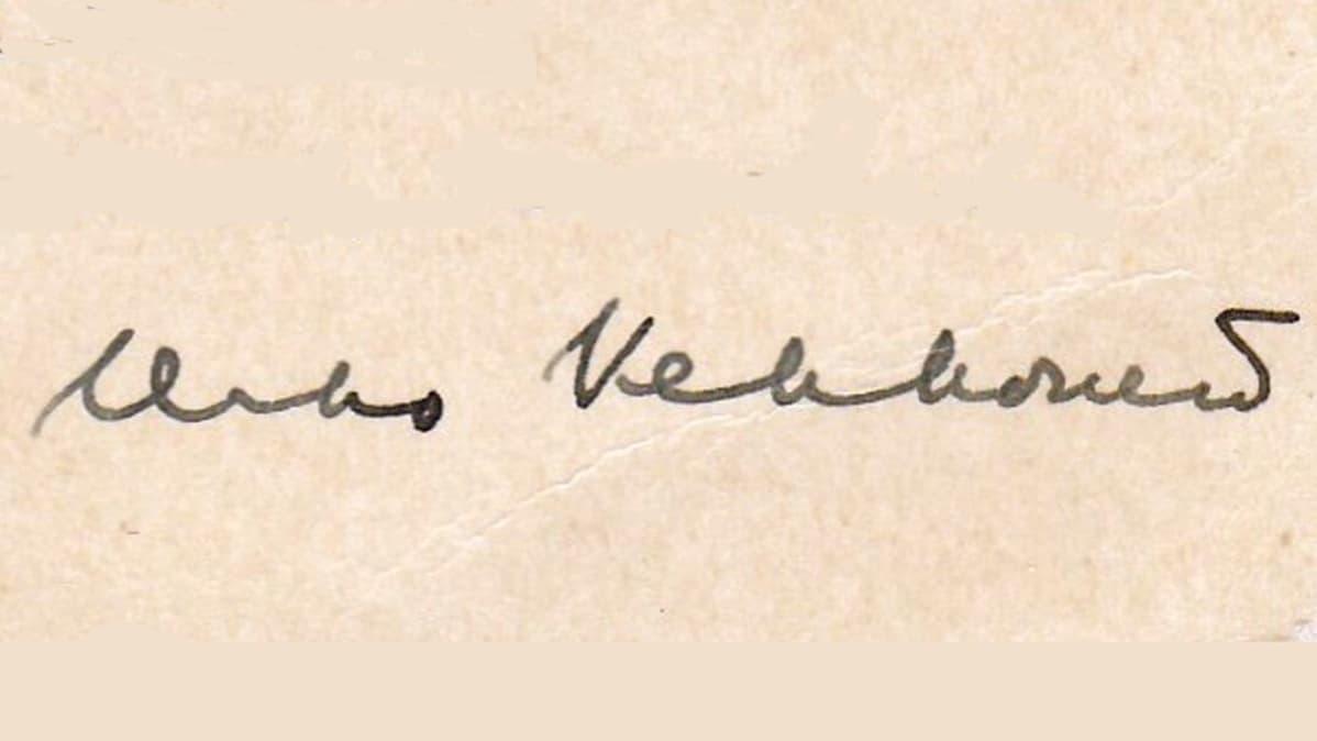 Kekkosen nimikirjoitus vuodelta 1934