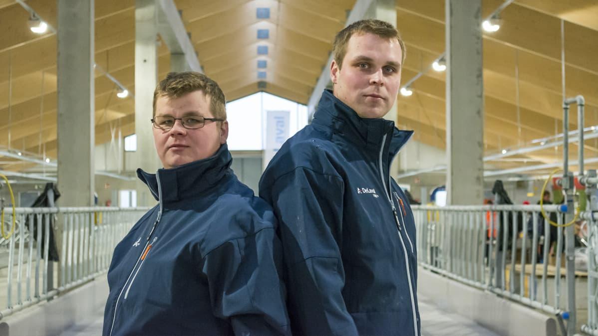 Yrittäjät Veikko ja Heikki Mikkonen.
