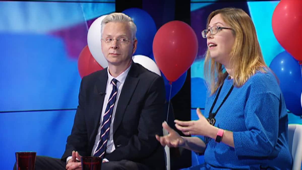 Markku Ruotsila ja Emilia Palonen.
