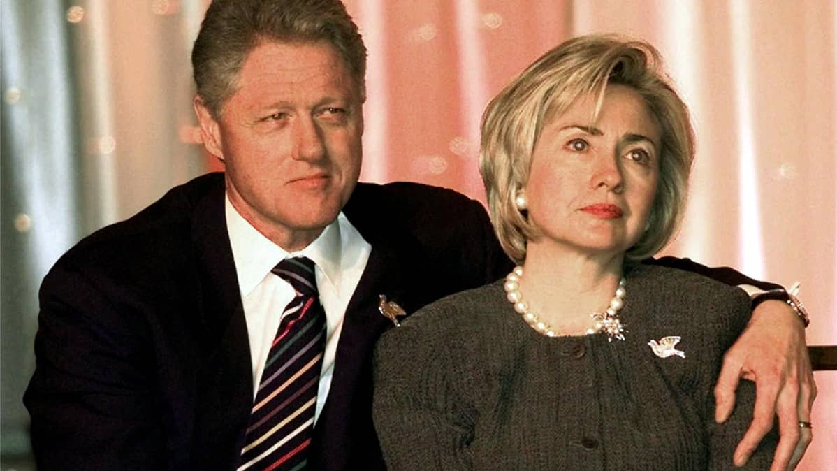Bill ja Hillary Clinton vuonna 1999.
