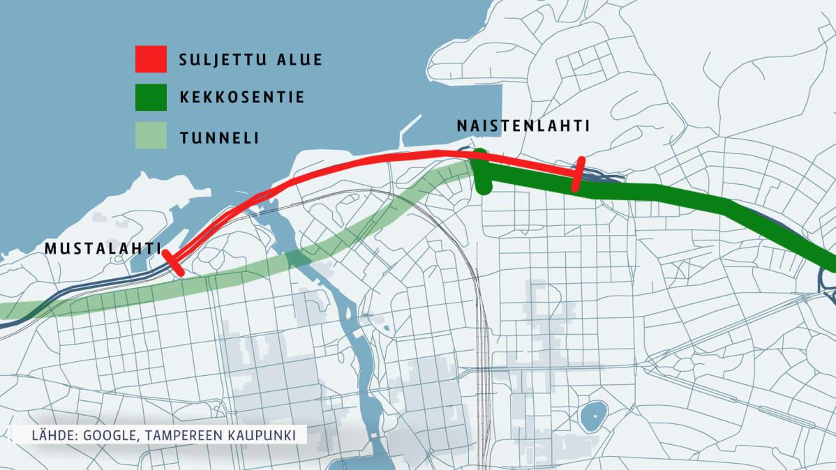 Tyomatka Taittuu Pian Tunnelissa Tama Vali Kuljetaan Tampereella