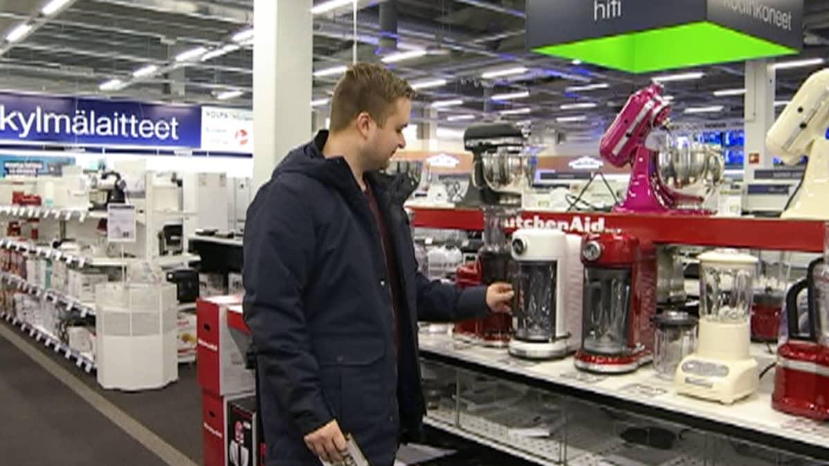Helsinkiläisen Juha Lankisen mielestä kodinkoneen pitäisi kestää ainakin sen tekniikan eliniän ajan.