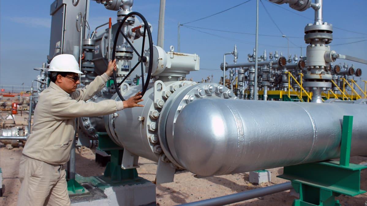 Öljykenttä Irakissa.