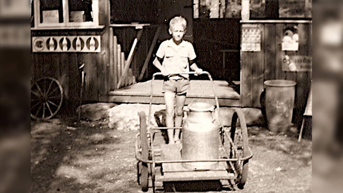 Pertti Lindeman lapsena