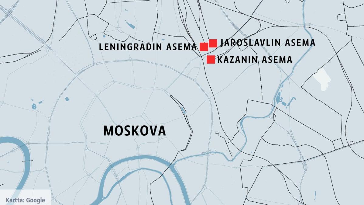 Moskovassa Evakuoitiin Kolme Rautatieasemaa Pommiuhan Vuoksi