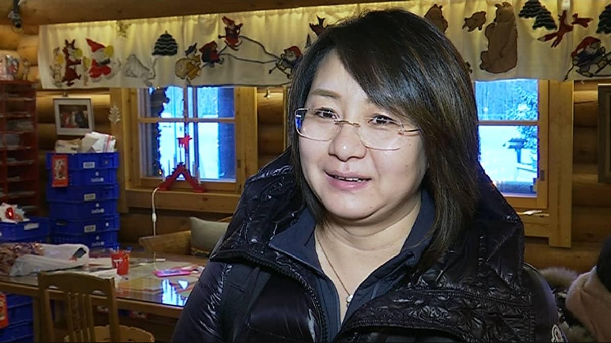 kiinalainen turisti Jing Yang napapiiri Pajakylä Rovaniemi