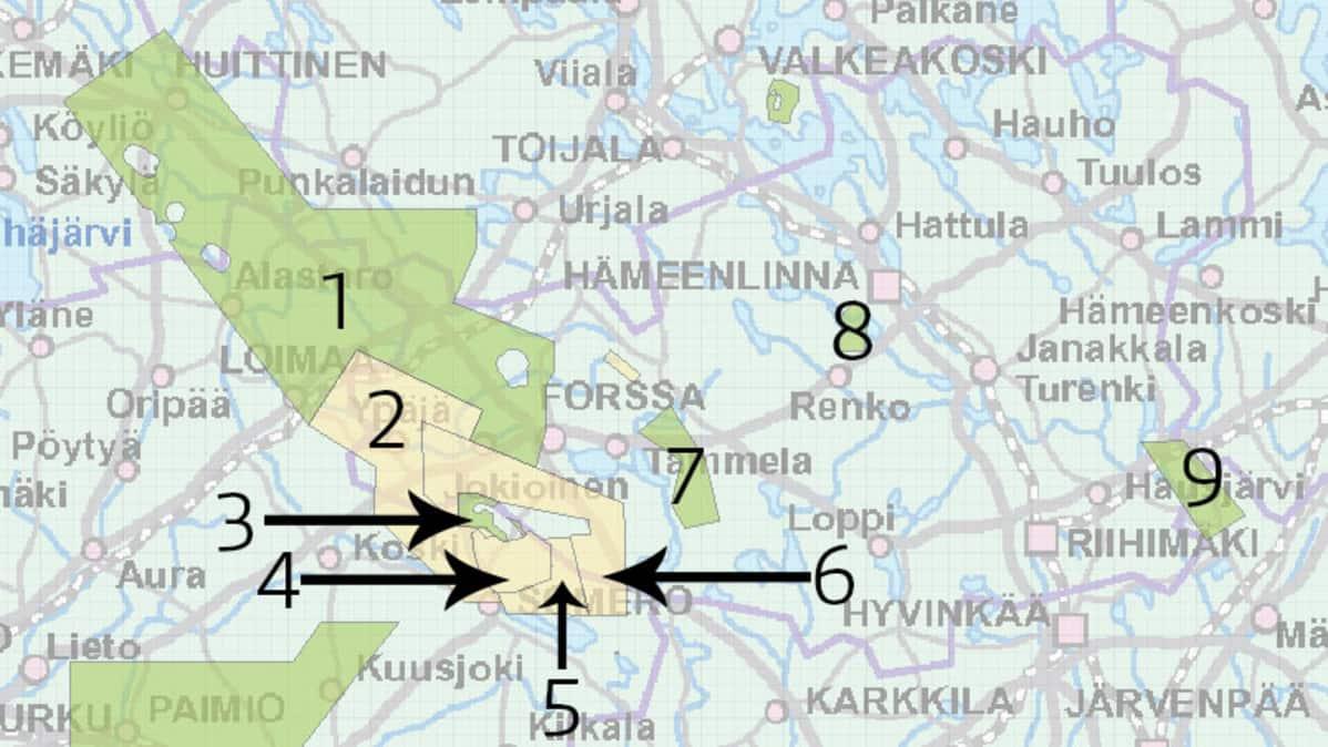 Kartta Kertoo Kultakiinnostuksesta Kaivosyhtion Suuri Varaus