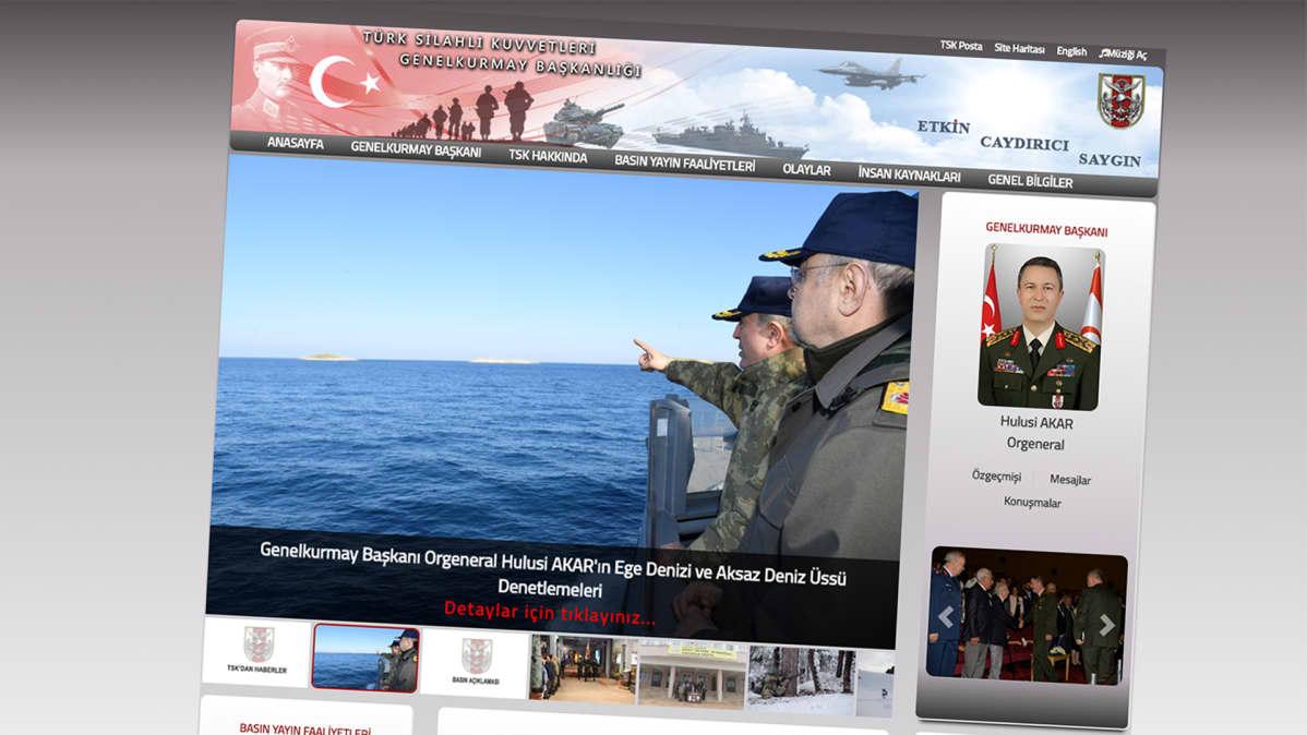 Turkin armeijan kotisivu.