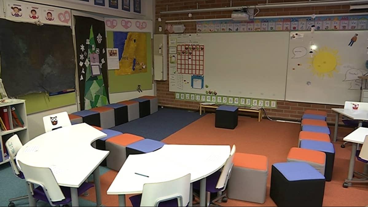Oulun normaalikoulun luokkahuone
