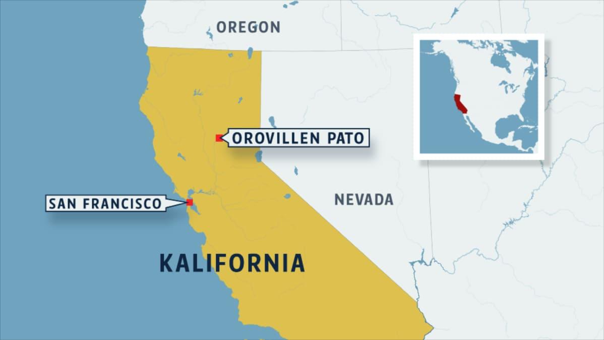 Kalifornia jossa Oroville