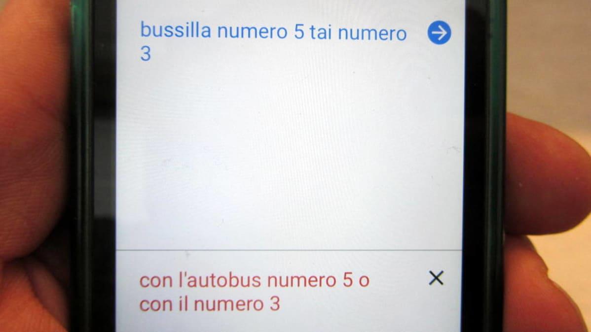 Köönnös italiasta suomeksi