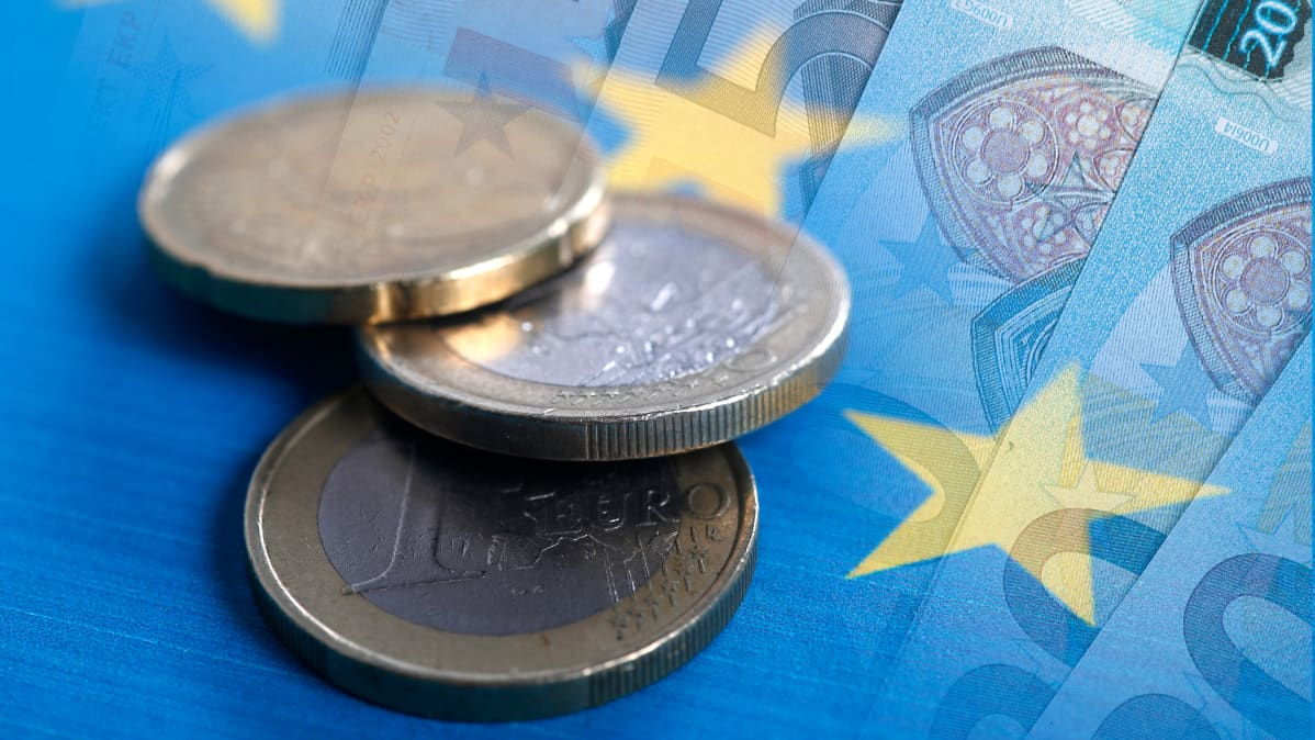 Euro raha kolikko.