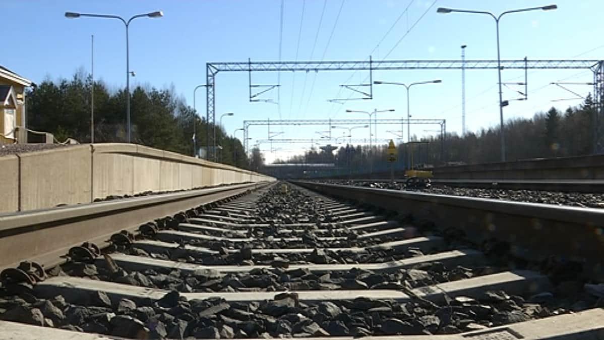 junarata Kokemäen asema juna-asema rautatieasema rautatie raiteet