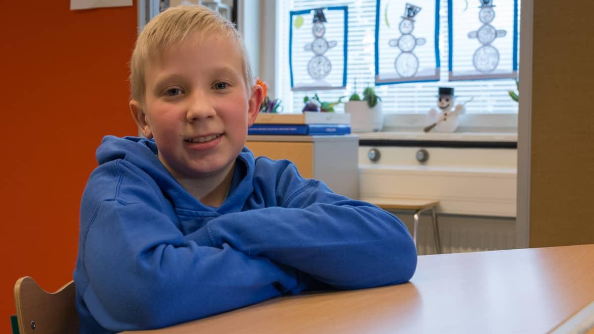 4-luokkalainen Veeti Saarenpää.