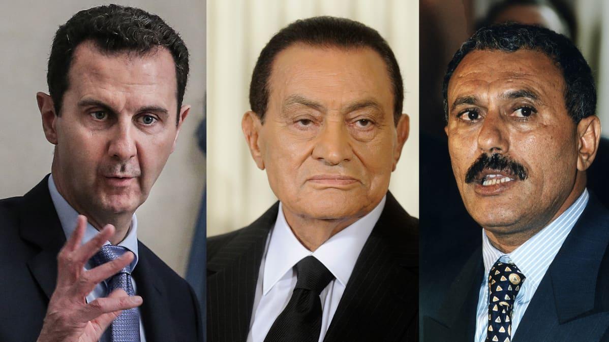 Al Assad, Hosni Mubarak ja Ali Abdullah.