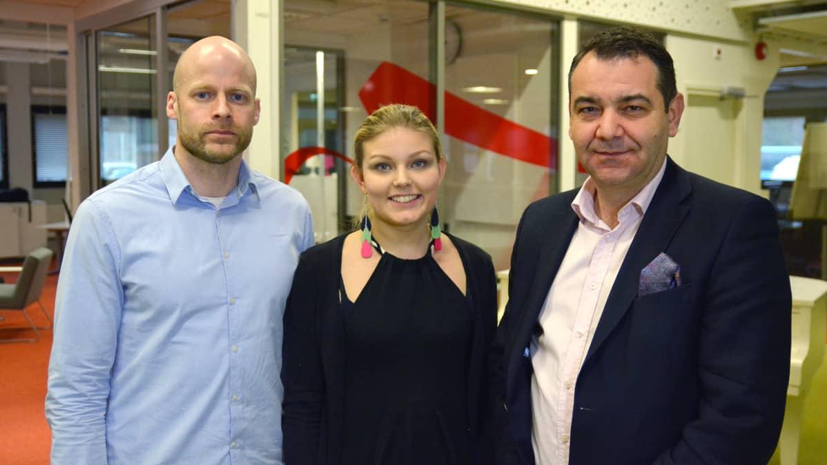 Aleksi Jäntti, Olga Haapa-aho, Atanas Aleksovski