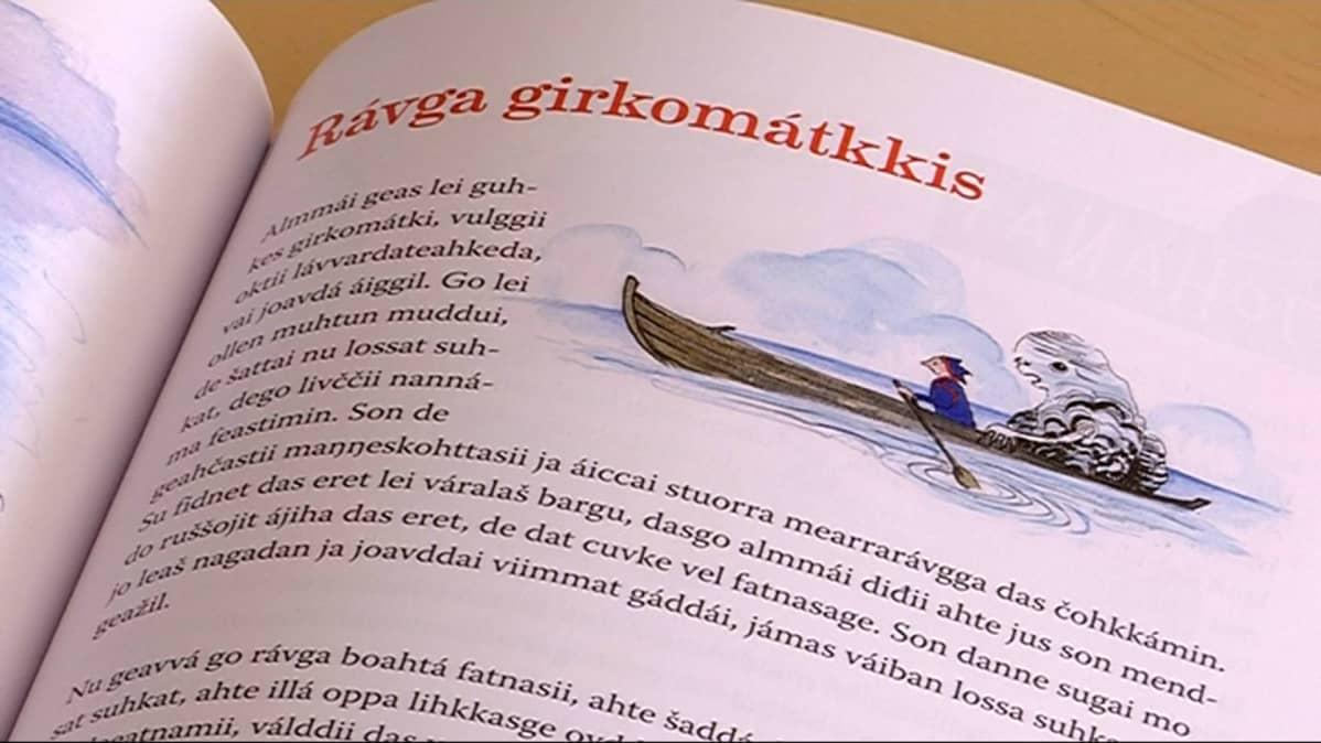 pohjoissaamenkielinen äidinkielen kirja
