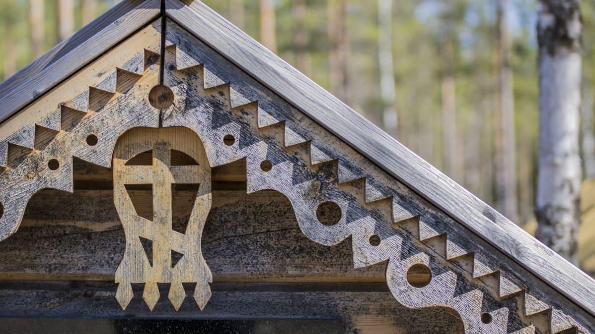 Ortodoksien hautausmaa Kajaanissa.