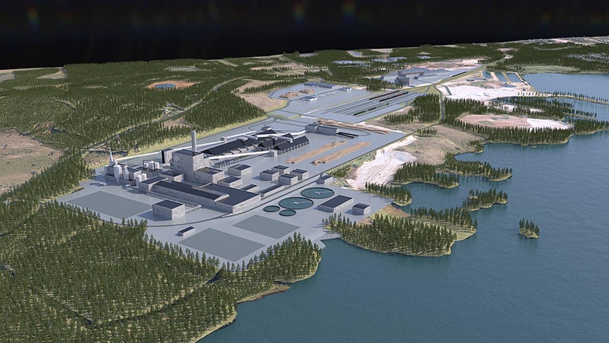 Havainnekuva Kemijärven Boreal Bioref -biojalostamosta