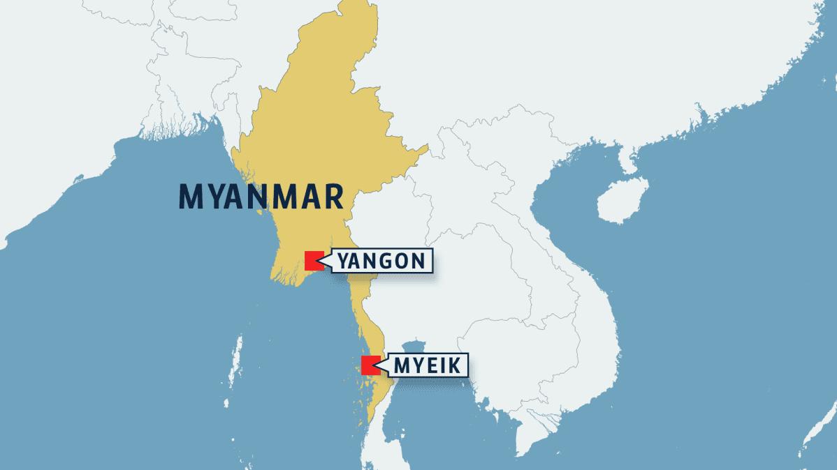 Myanmarin kartta.