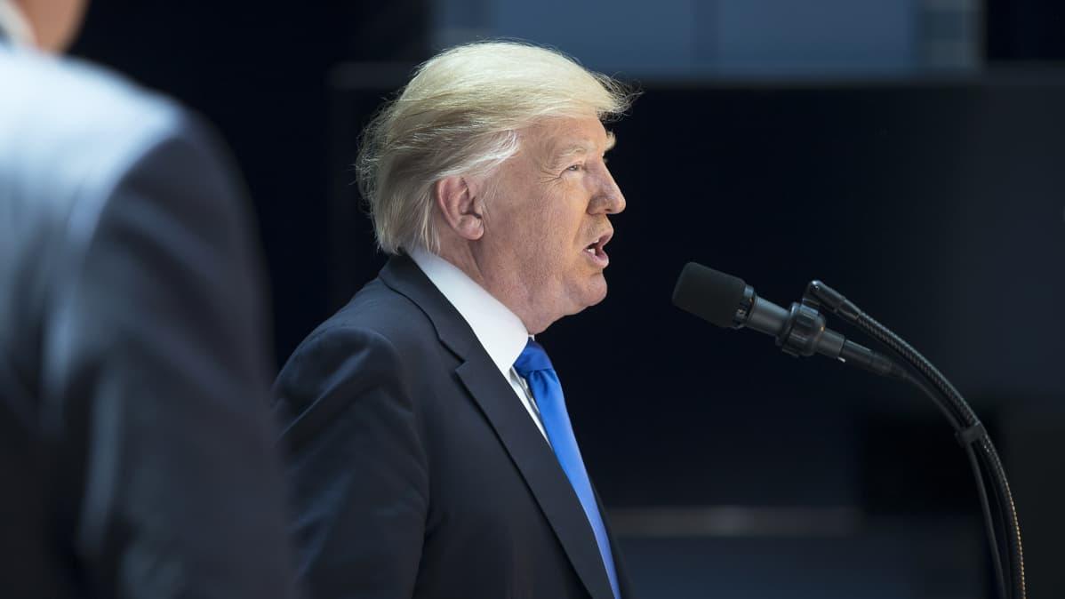 Presidentti donald Trump.
