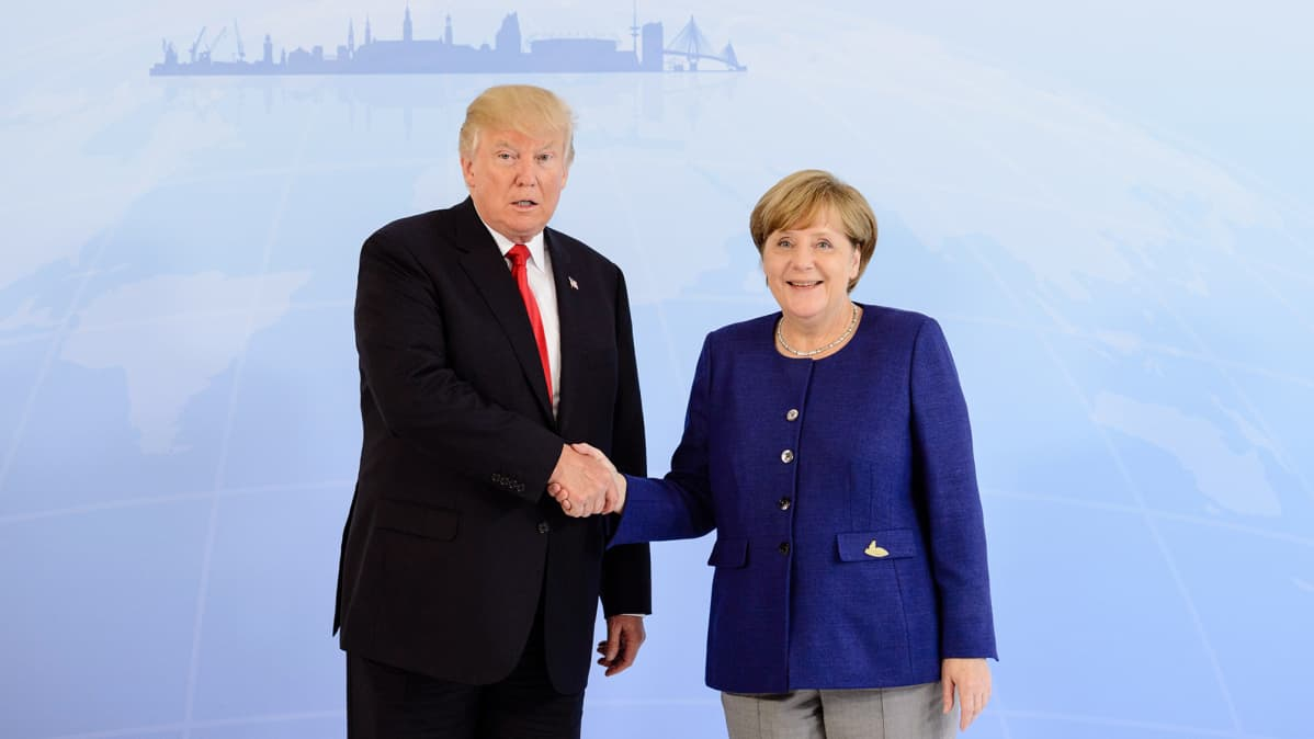 Donald Trump ja Angela Merkel.