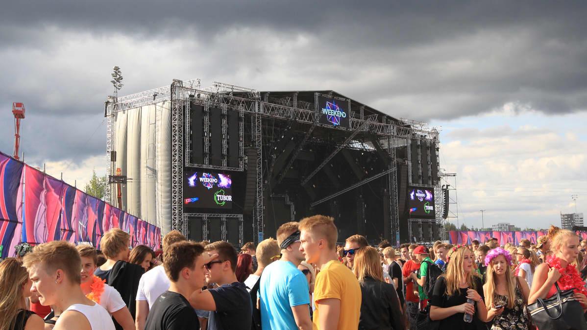 Weekend-festival Helsingin Kalasatamassa elokuussa 2014.