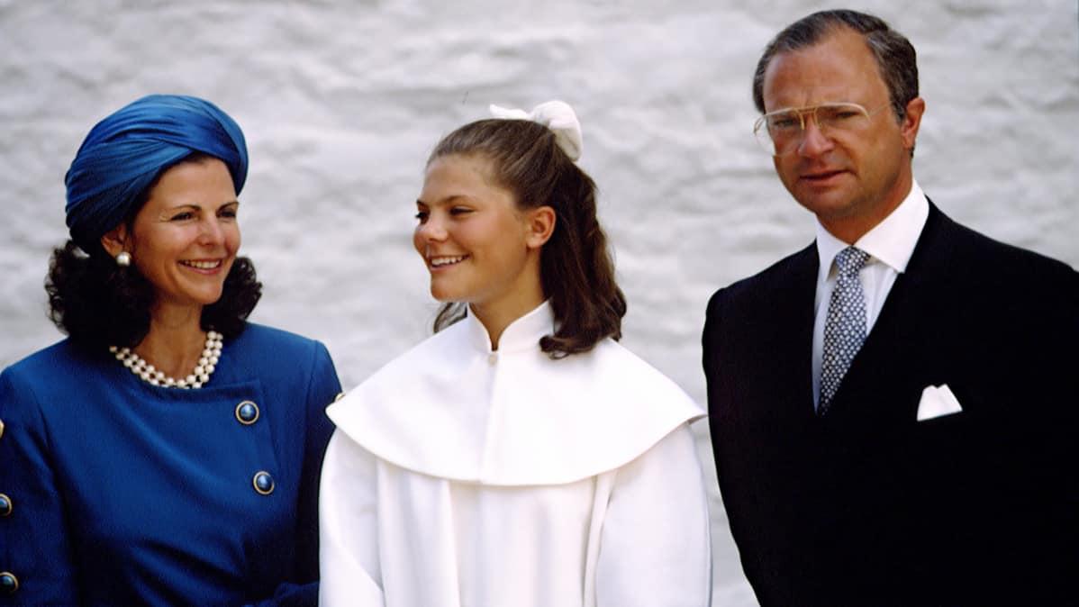Kruununprinsessa Victoria pääsi ripille vuonna 1991.