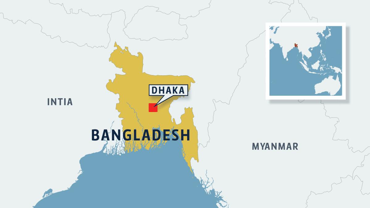 Bangladeshin kartta