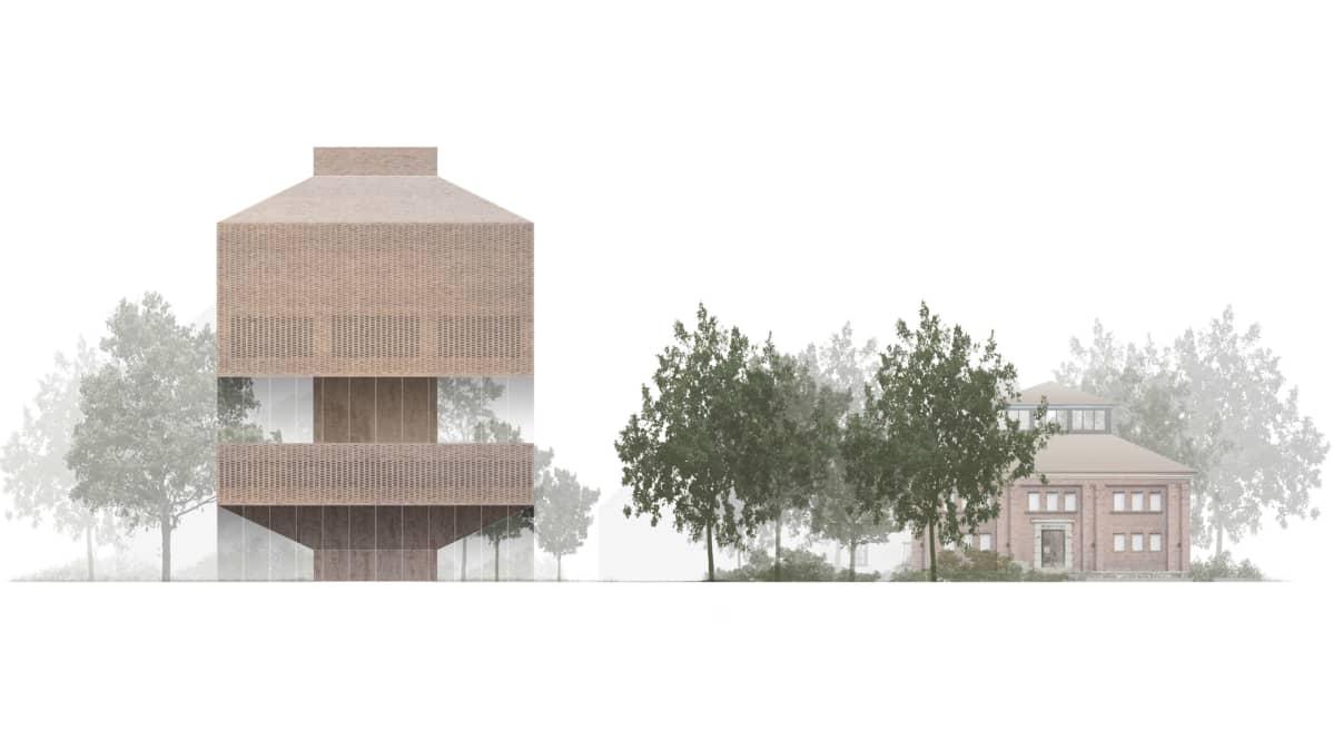 Havainnekuva Tamperen taidemuseon uudesta rakennuksesta