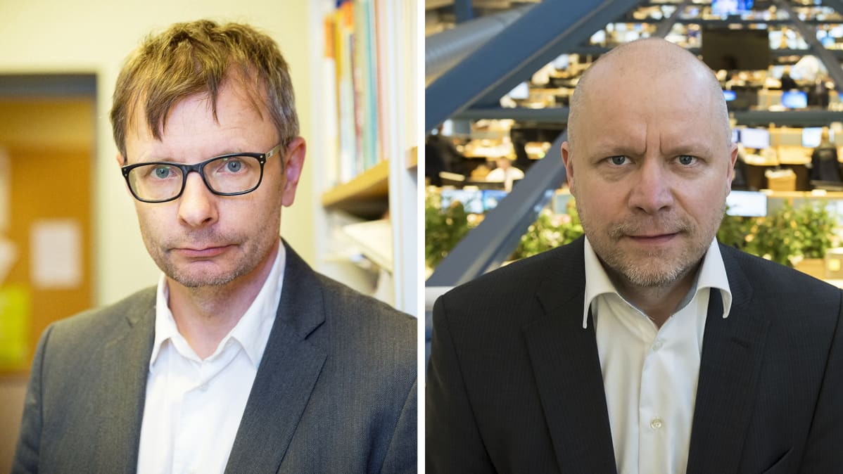 Heikki Hiilamo ja Aki Kangasharju.