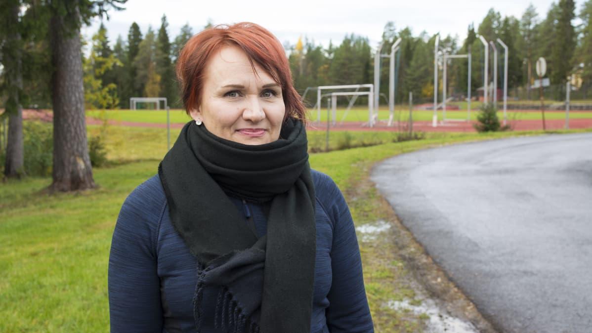Suomussalmen Rastin yleisurheilujaoston puheenjohtaja Virpi Keränen.