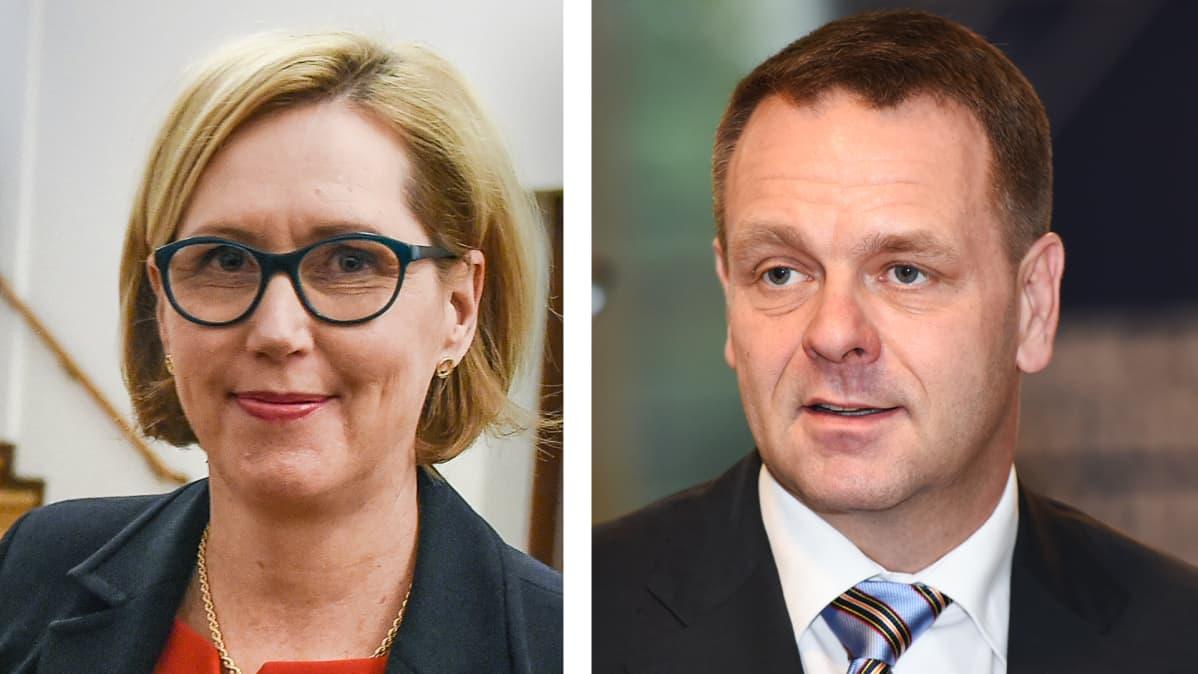 Tuula Haatainen ja Jan vapaavuori.
