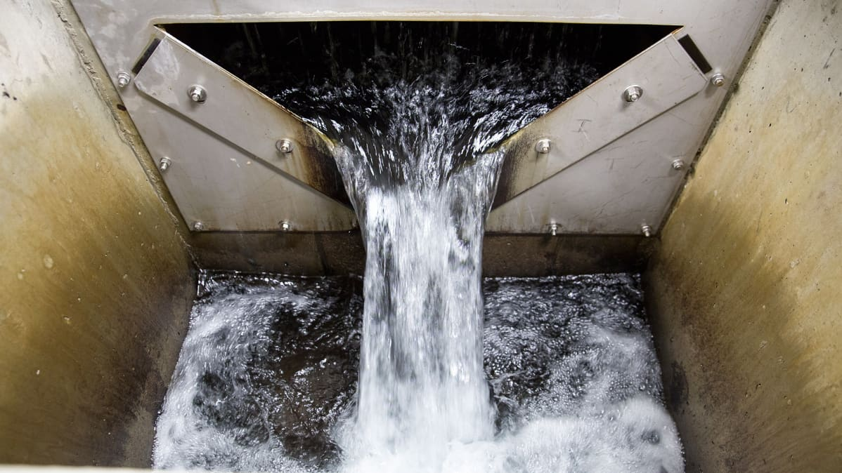 vesi valuu altaaseen