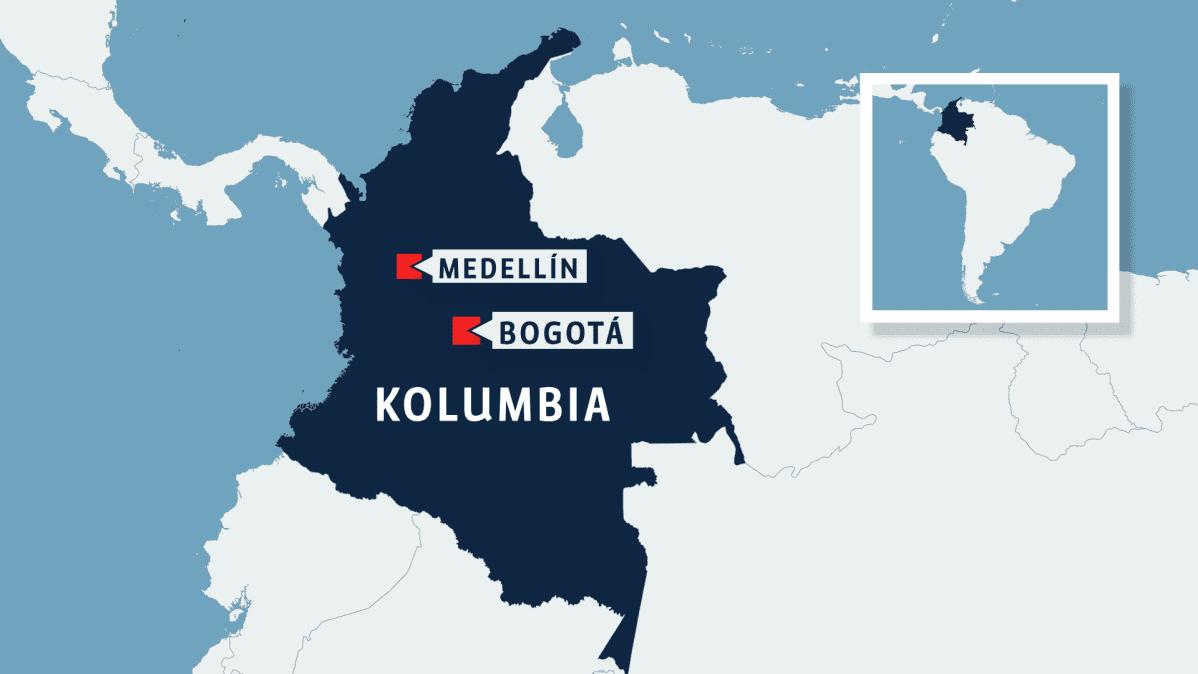 Kolumbian kartta.