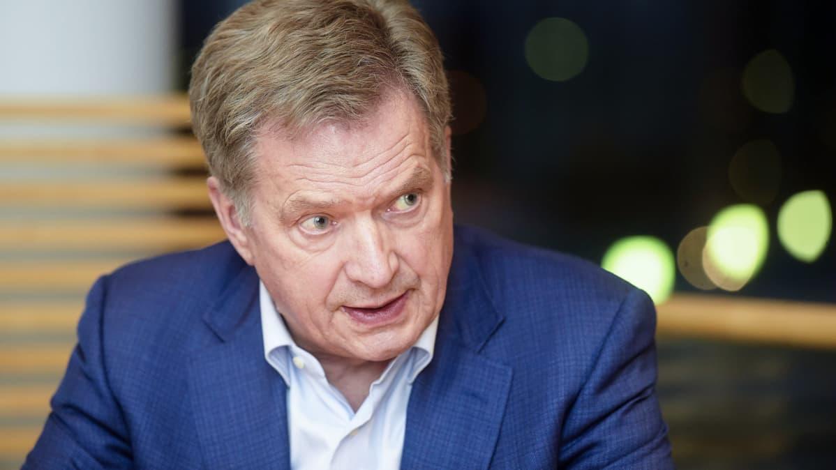 Presidenttiehdokas Sauli Niinistö