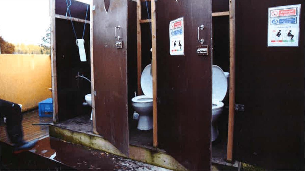 Marjanpoimijoiden käymälät.