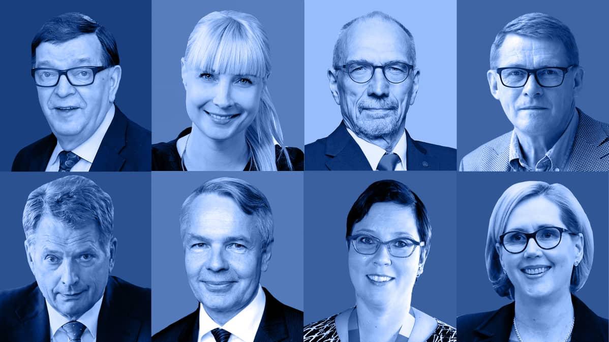 Presidentinvaaliehdokkaat 2018.