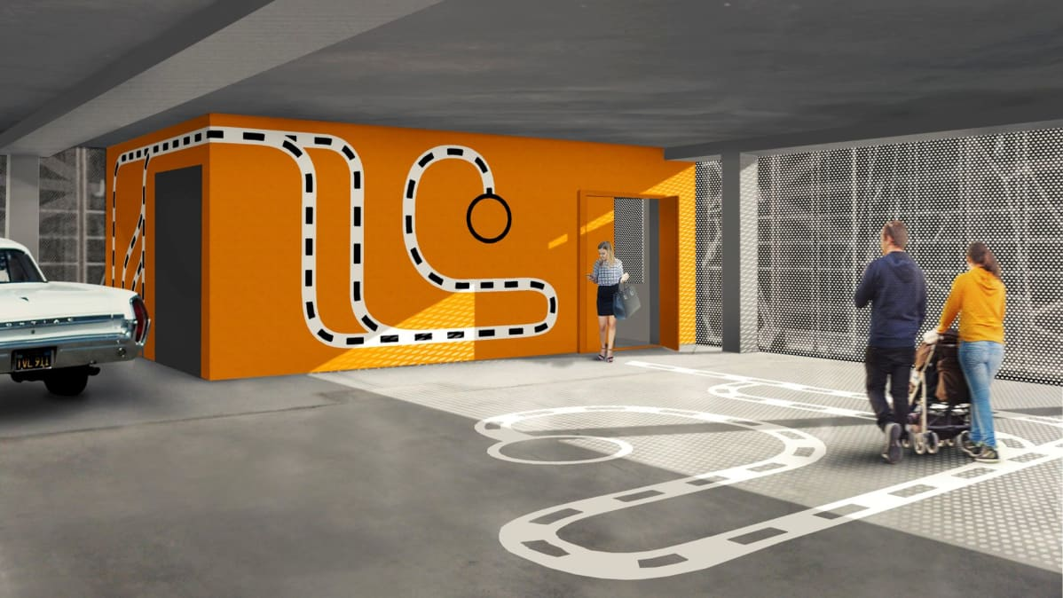 Parkkitalon sisätilan taiteesta vastaa taiteilija-arkkitehti Kaisa Berry.